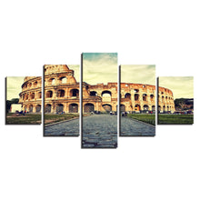 Colosseum 5 Piece HD Multi Panel Canvas Wall Art Frame