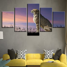 Proud Leopard 5 Piece HD Multi Panel Canvas Wall Art Frame