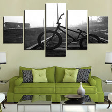 Bicycle Rail 5 Piece HD Multi Panel Canvas Wall Art Frame