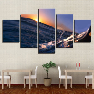 Sunrise Sunshine 5 Piece HD Multi Panel Canvas Wall Art Frame