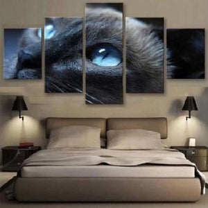 Cat's Eyes 5 Piece HD Multi Panel Canvas Wall Art Frame