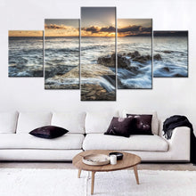 Sea Wave Reef 5 Piece HD Multi Panel Canvas Wall Art Frame