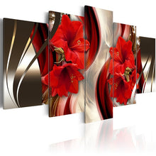 Flower Lily 5 Piece HD Multi Panel Canvas Wall Art Frame