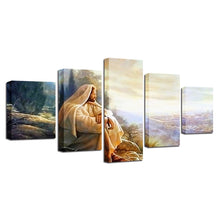 Glory To God 5 Piece HD Multi Panel Canvas Wall Art Frame