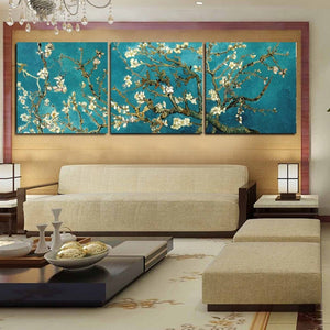 Abstract Tree Framework 3 Piece HD Multi Panel Canvas Wall Art Frame