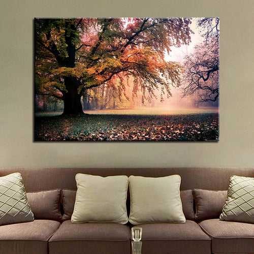 HD Prints Pictures For Living Room Home Decor Posters 1 Piece/Pcs Fall Great Trees Landscape Canvas Paintings Wall Art Framework