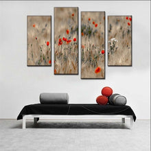 Safflower 4 Piece HD Multi Panel Canvas Wall Art Frame