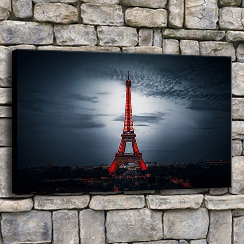 Eiffel Tower 1 Piece HD Multi Panel Canvas Wall Art Frame