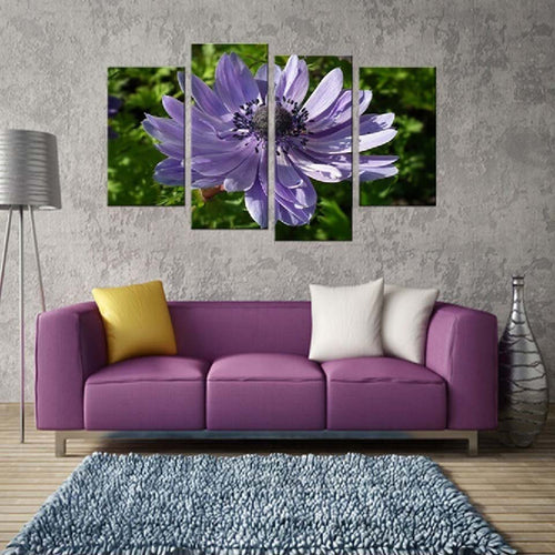Flower 4 Piece HD Multi Panel Canvas Wall Art Frame