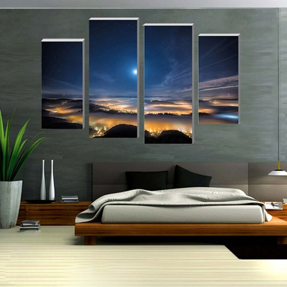 Colosseum 4 Piece HD Multi Panel Canvas Wall Art Frame