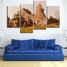 Ancient Building 4 Piece HD Multi Panel Canvas Wall Art Frame