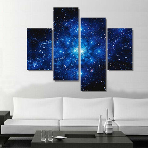 Stars All Over The Sky 4 Piece HD Multi Panel Canvas Wall Art Frame