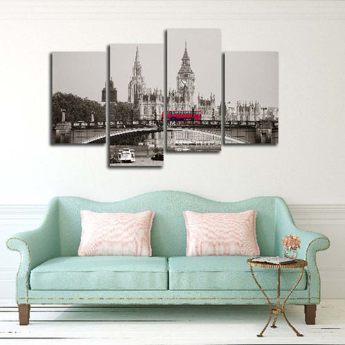 Fashion Scenery 4 Piece HD Multi Panel Canvas Wall Art Frame