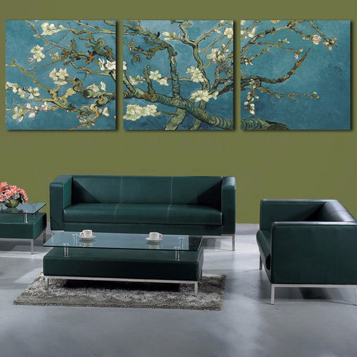 Van Gogh Classical Pictures 3 Piece HD Multi Panel Canvas Wall Art Frame