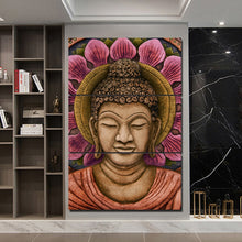 Buddha Flower Art 3 Piece HD Multi Panel Canvas Wall Art Frame