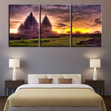 Temple Print 3 Piece HD Multi Panel Canvas Wall Art Frame