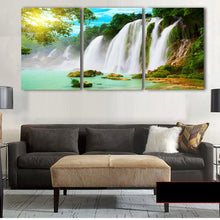 Elegant Waterfalls 3 Piece HD Multi Panel Canvas Wall Art Frame