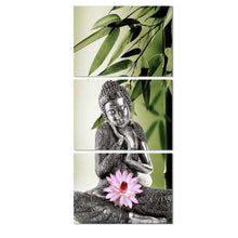 Antique Buddha 3 Piece HD Multi Panel Canvas Wall Art Frame