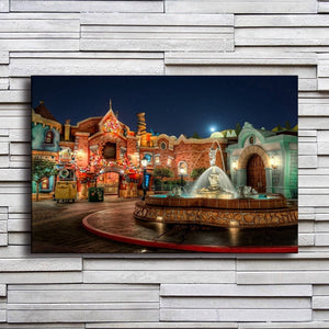 Cute Town 1 Piece HD Multi Panel Canvas Wall Art Frame