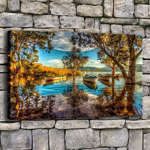 Bafa Lake Turkey 1 Piece HD Multi Panel Canvas Wall Art Frame