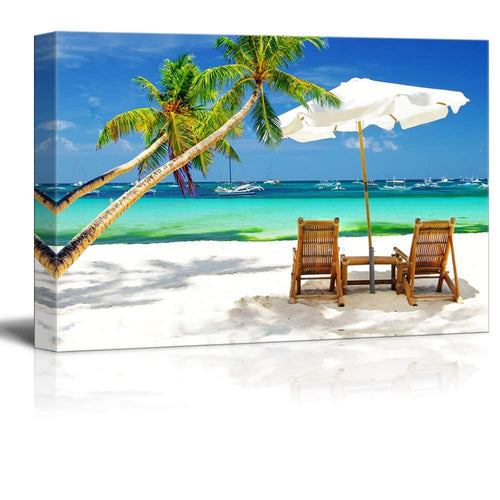 Modular Canvas Pictures Home Decor 1 Piece Tropical Vacation At The Beach Poster Prints Seascape Painting Living Room Wall Art