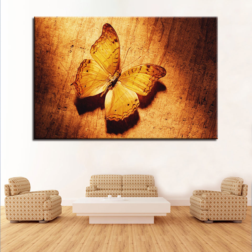 Wall Art Canvas HD Prints Pictures Home Decor Framework 5 Pieces Animal Butterfly Paintings For Living Room Retro Vintage Poster