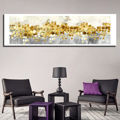 Golden Coins 1 Piece HD Multi Panel Canvas Wall Art Frame