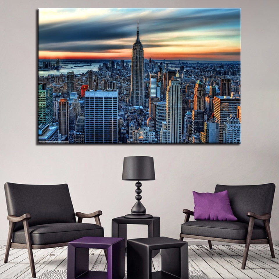 New York City 1 Piece HD Multi Panel Canvas Wall Art Frame
