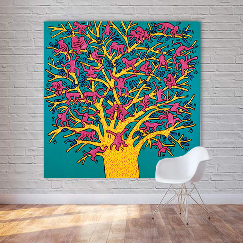 The Tree Of Monkeys 1 Piece HD Multi Panel Canvas Wall Art Frame