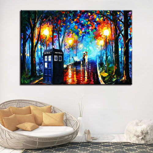 Rainy Night Art 1 Piece HD Multi Panel Canvas Wall Art Frame