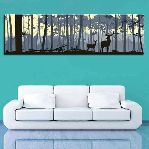 Two Deer 1 Piece HD Multi Panel Canvas Wall Art Frame