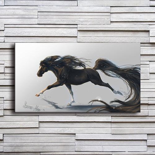 Majestic Horse Running 1 Piece HD Multi Panel Canvas Wall Art Frame