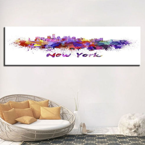 Colorful New York 1 Piece HD Multi Panel Canvas Wall Art Frame