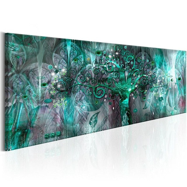 Magic Flowers 1 Piece HD Multi Panel Canvas Wall Art Frame