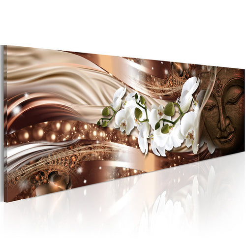 White Orchid 1 Piece HD Multi Panel Canvas Wall Art Frame