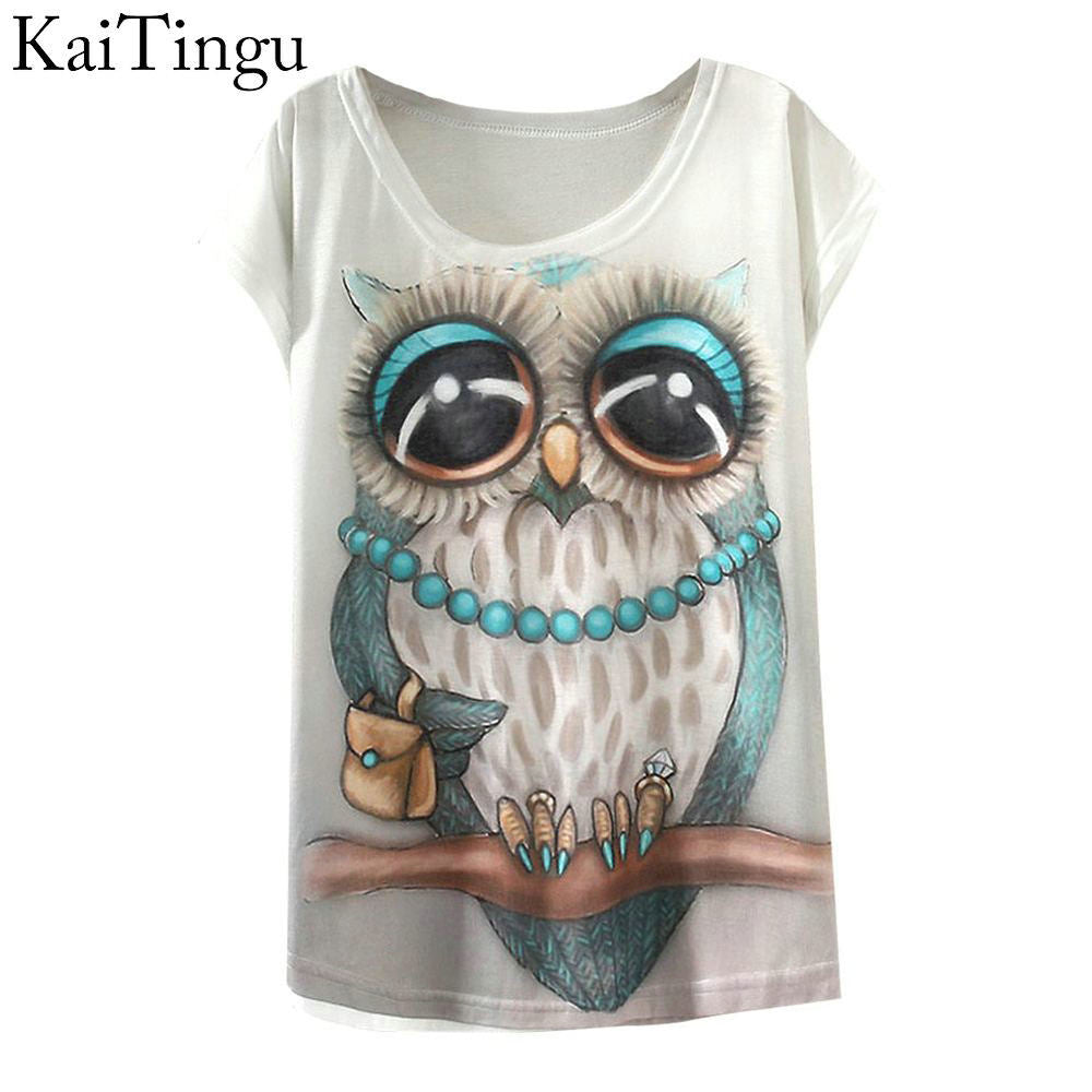 2017 new Fashion Owl Women T-shirt
