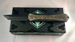 Heretic Manticore X flamed full Ti hand ground  tanto 005
