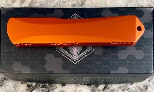 Heretic Knives Manticore X double edge dlc Orange