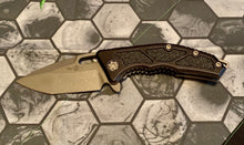 Load image into Gallery viewer, Heretic Knives  manual Medusa. Tanto battle worn black