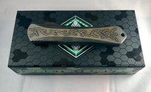 Load image into Gallery viewer, Heretic Manticore X flamed full Ti hand ground  tanto 005
