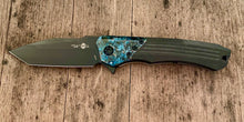 Load image into Gallery viewer, Heretic Knives  manual Tanto wraith with chemtina  brass bolster