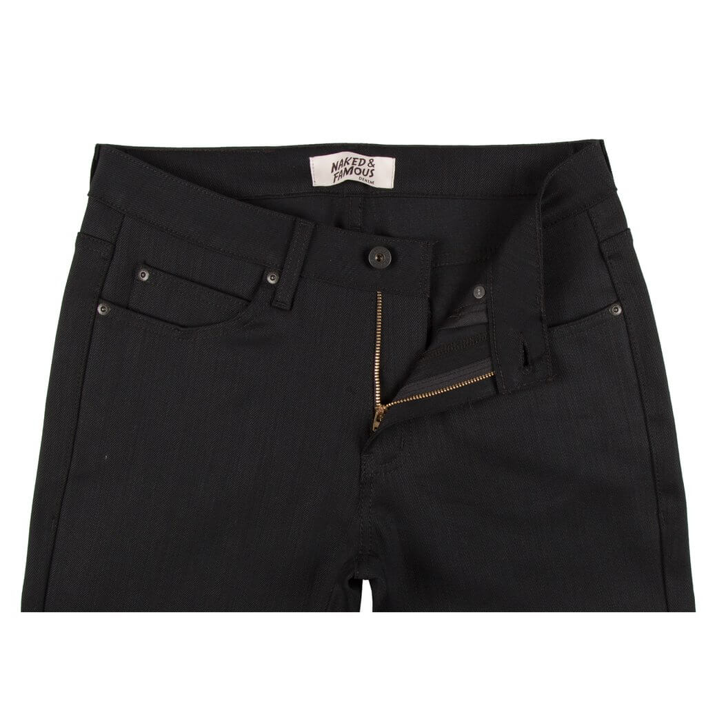 Naked & Famous Denim Super Guy Black Power Stretch Denim