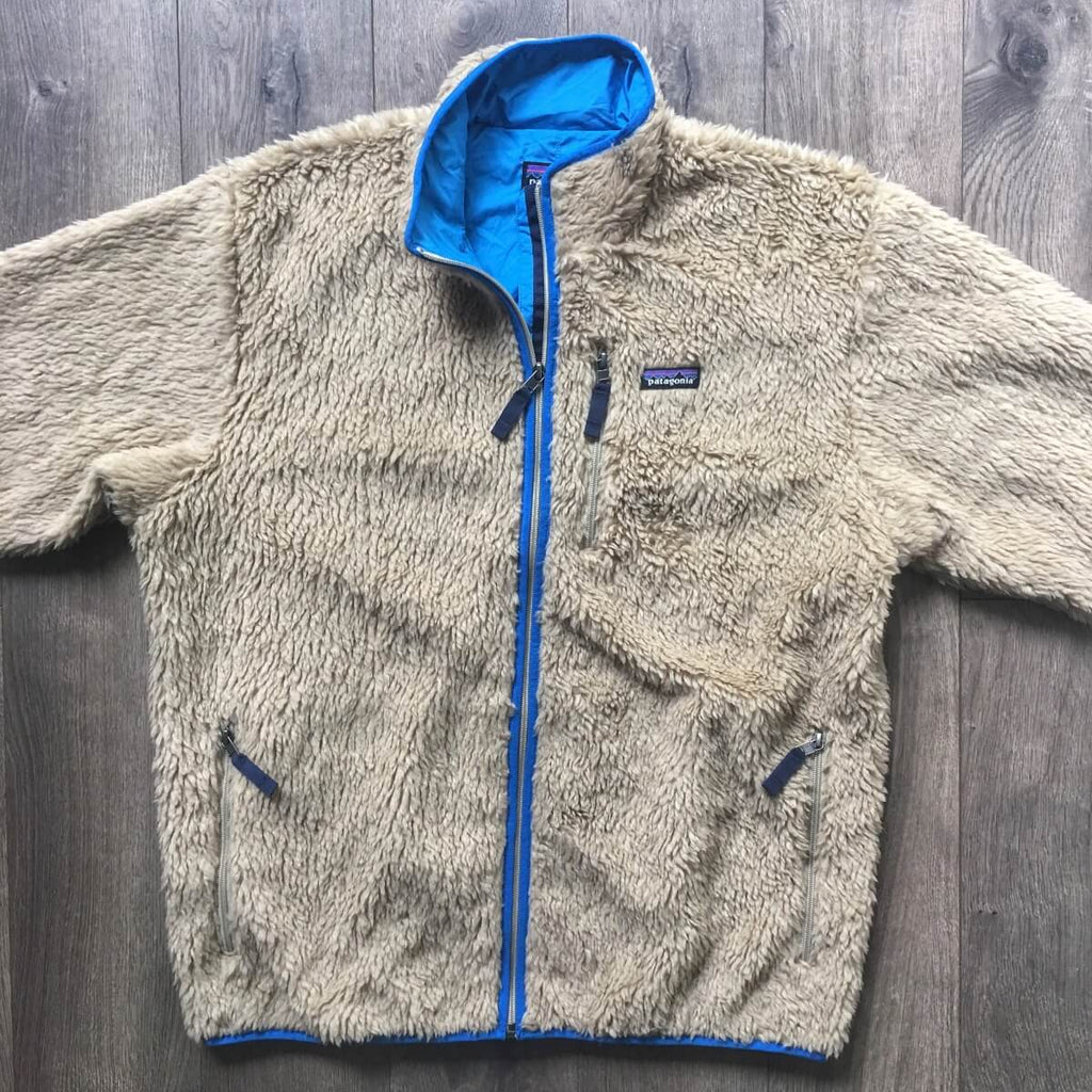 Patagonia Cream Deep Pile Retro X Fleece Cardigan Jacket