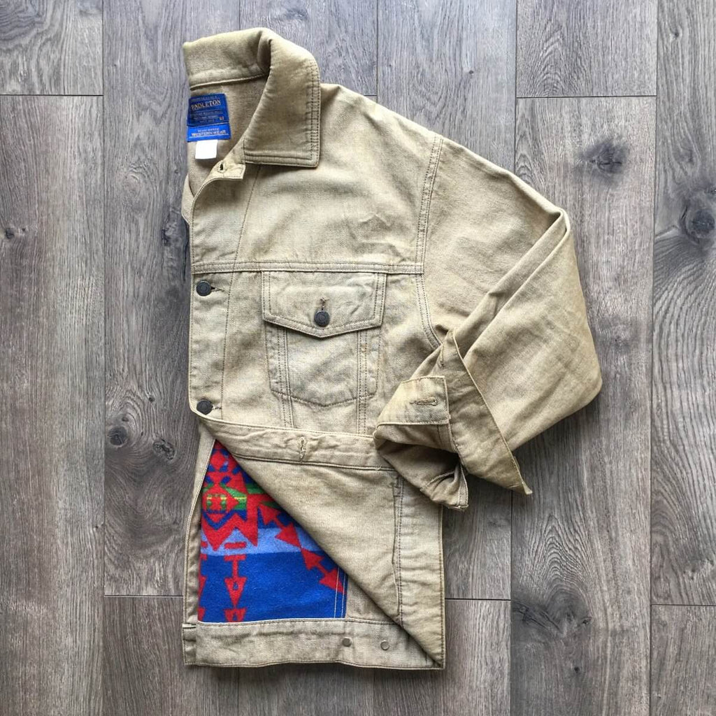 Vintage Pendleton Wool Aztec Denim Jacket