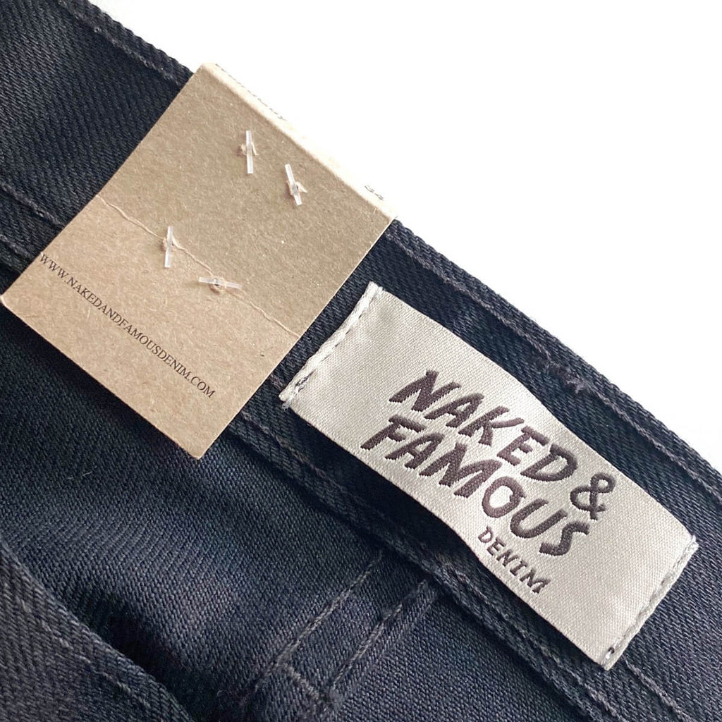 Naked & Famous Denim Weird Guy Black Power Stretch Denim