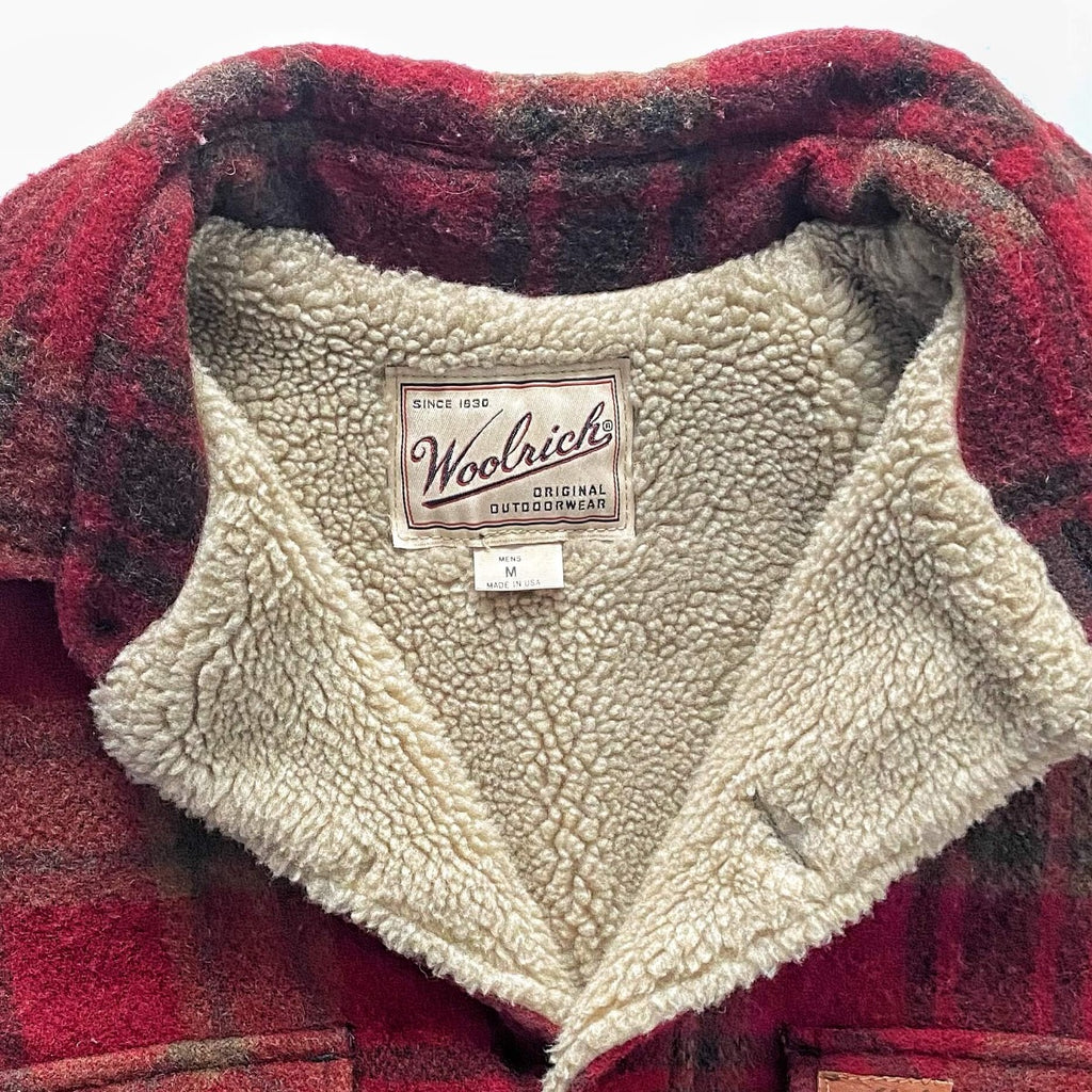 Vintage Woolrich Wool Sherpa Car Coat