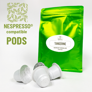 Tangerine flavor Sencha green tea pods nespresso® compatible - Pack of 20 pods