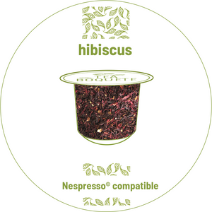 Hibiscus tea pods for nespresso brewers originalline compatible