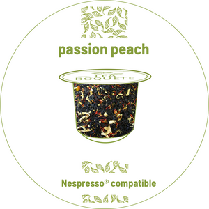 Peach black tea pods Nespresso® compatible -