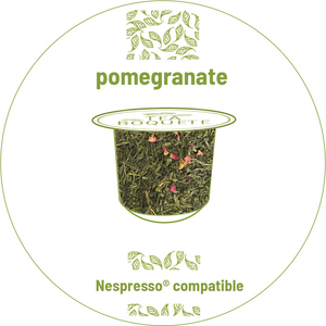 Pomegranate flavor Sencha green tea Nespresso® compatible -